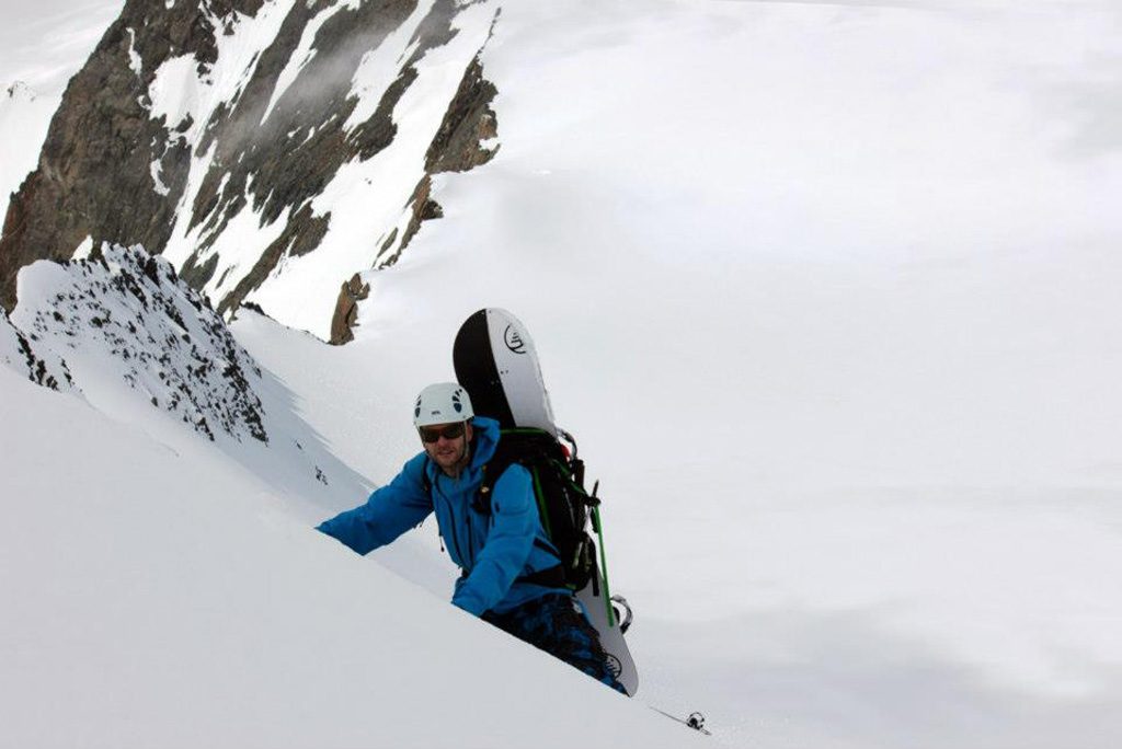Burton Landlord on my Back, Steep Splitboarding