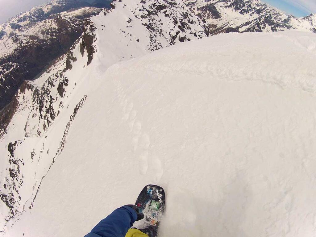 Dropping In from Top of Mont Velan