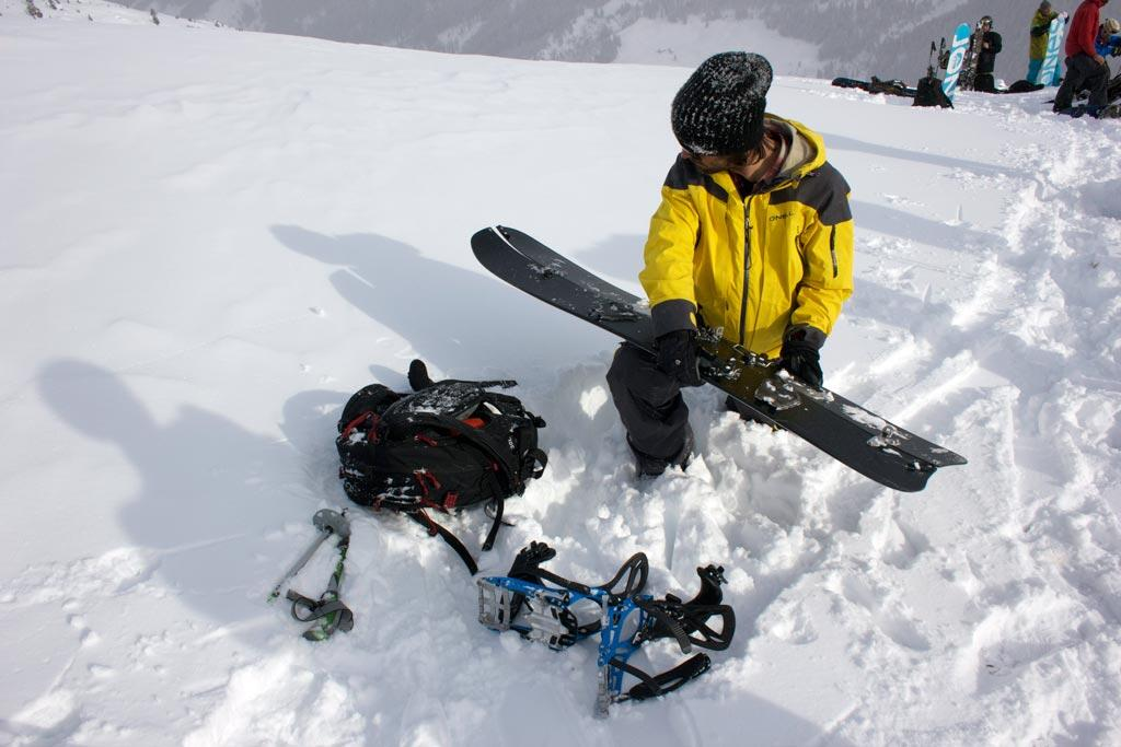 Jeremy baut sein Ultracraft Splitboard um.
