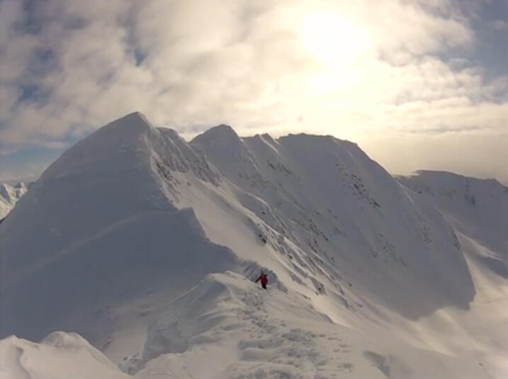 Splitboarding in Alaska