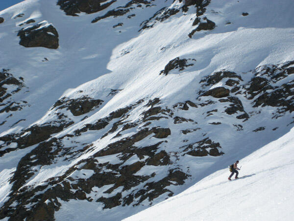 Uphill with a splitboard