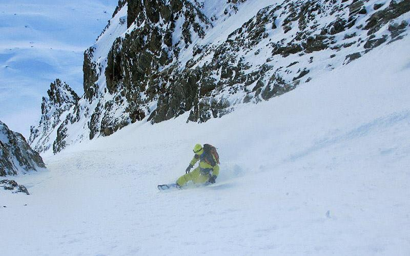 Powder Fun at Domenech, Splitboard