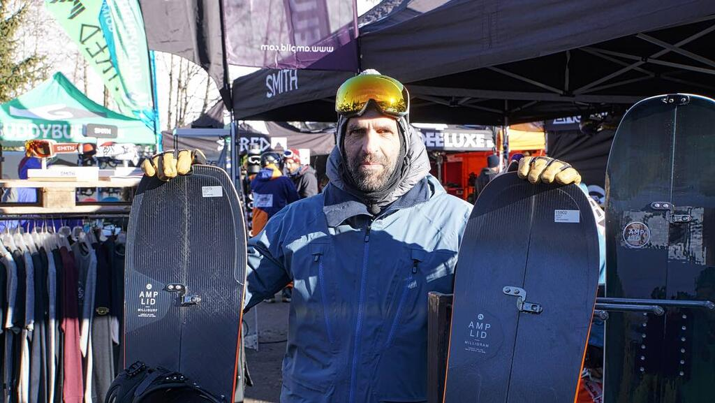 Peter Bauer with his Next Level Amplid Splitboard Range