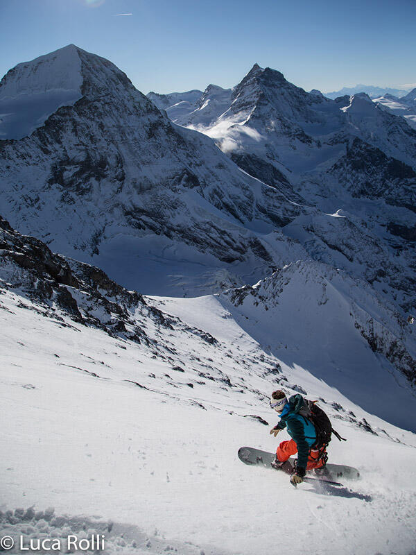 Riding the Eiger Westface