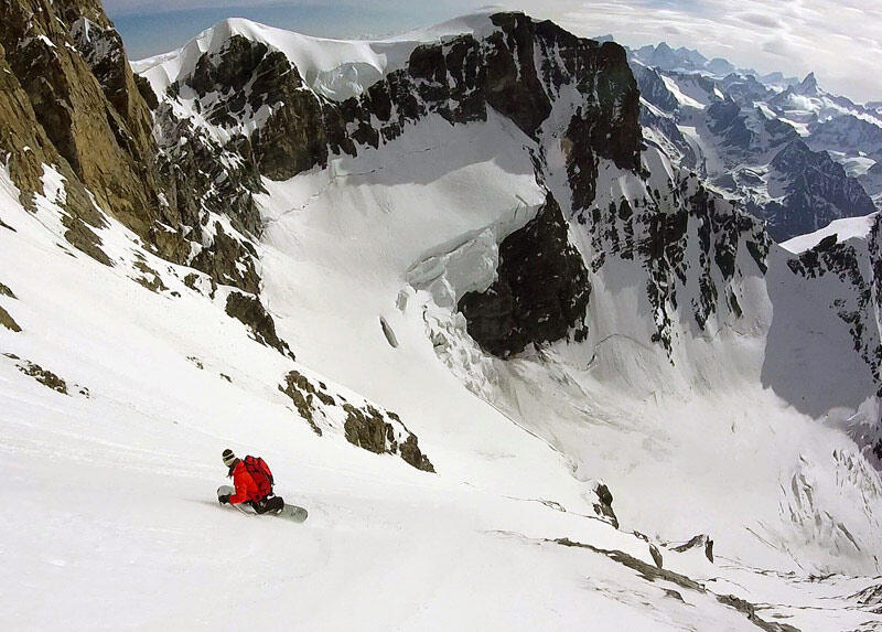 Davide Capozzi first descent Grand Combin 2
