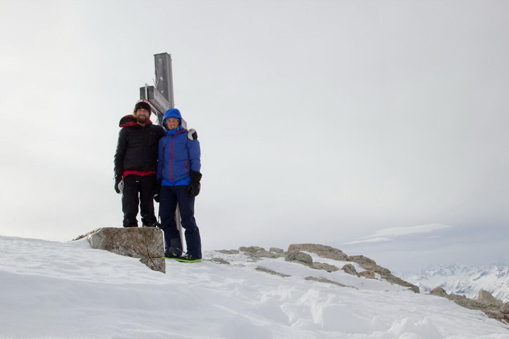 At the summit of Hochvogel 2592m
