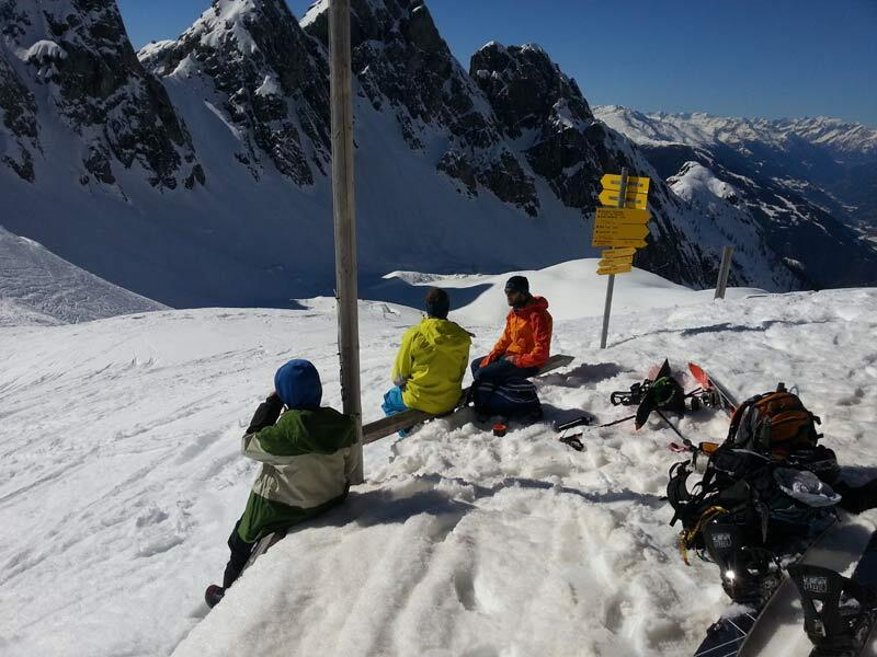 Little break at the Karlsbader hut