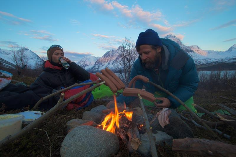 Fire Romance in the Lyngen Alps