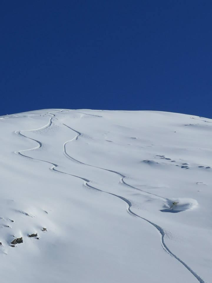 Mt Dobson backcountry, Kyle Miller in the whiteroom.