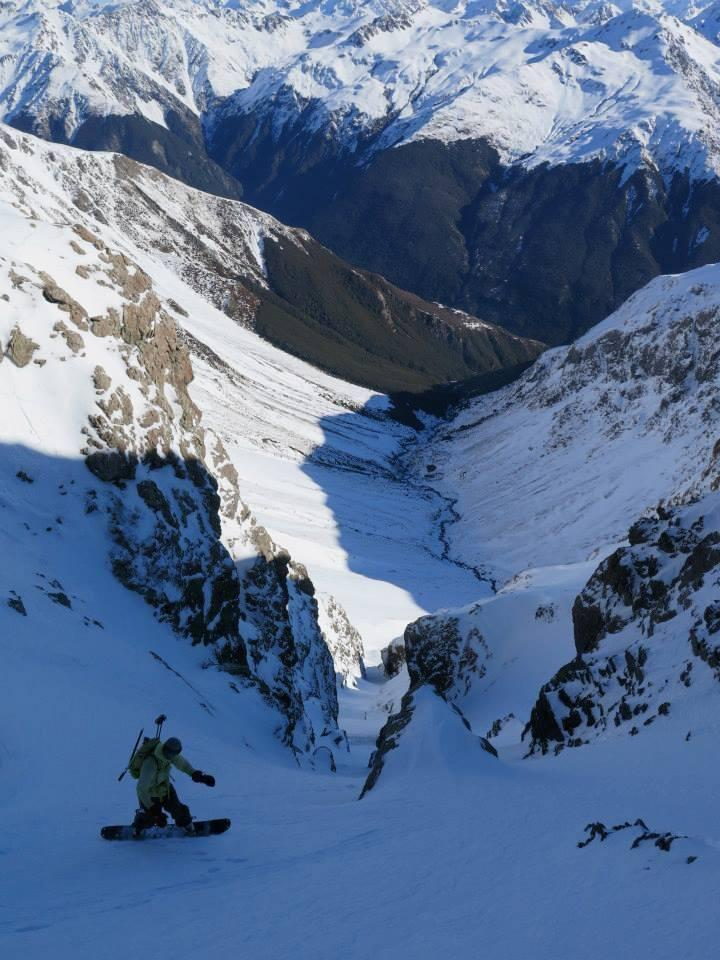 Temple Basin backcountry. Kyle Miller dropping in.