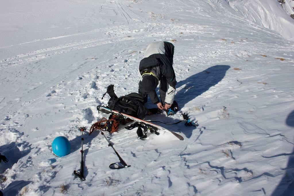 Crampons for enhanced security for Splitboarding