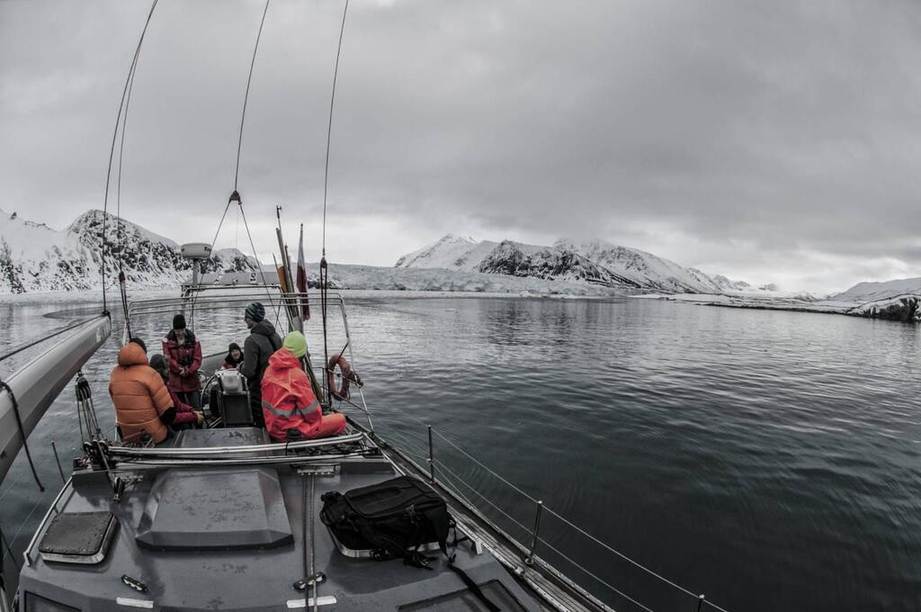 On the boat at the Svalbard Archipelago