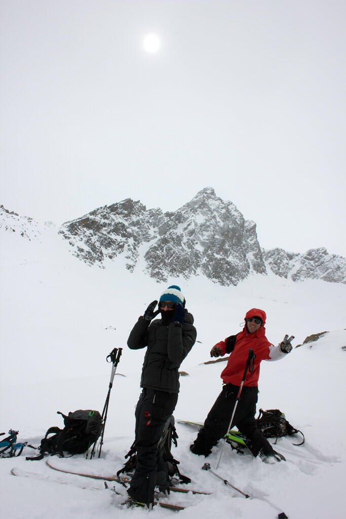 Splitboard Tour changing weather