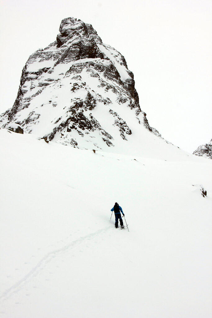 Big safety distance while Splitboard touring