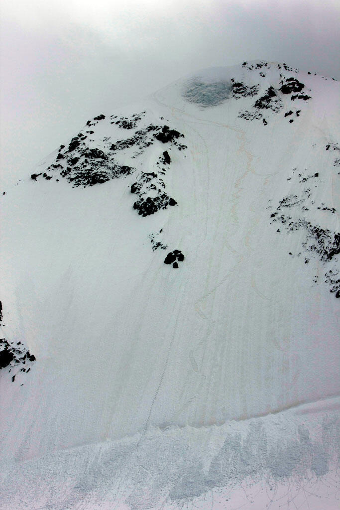 50-55° Icewall with the Splitboard at Pitztal