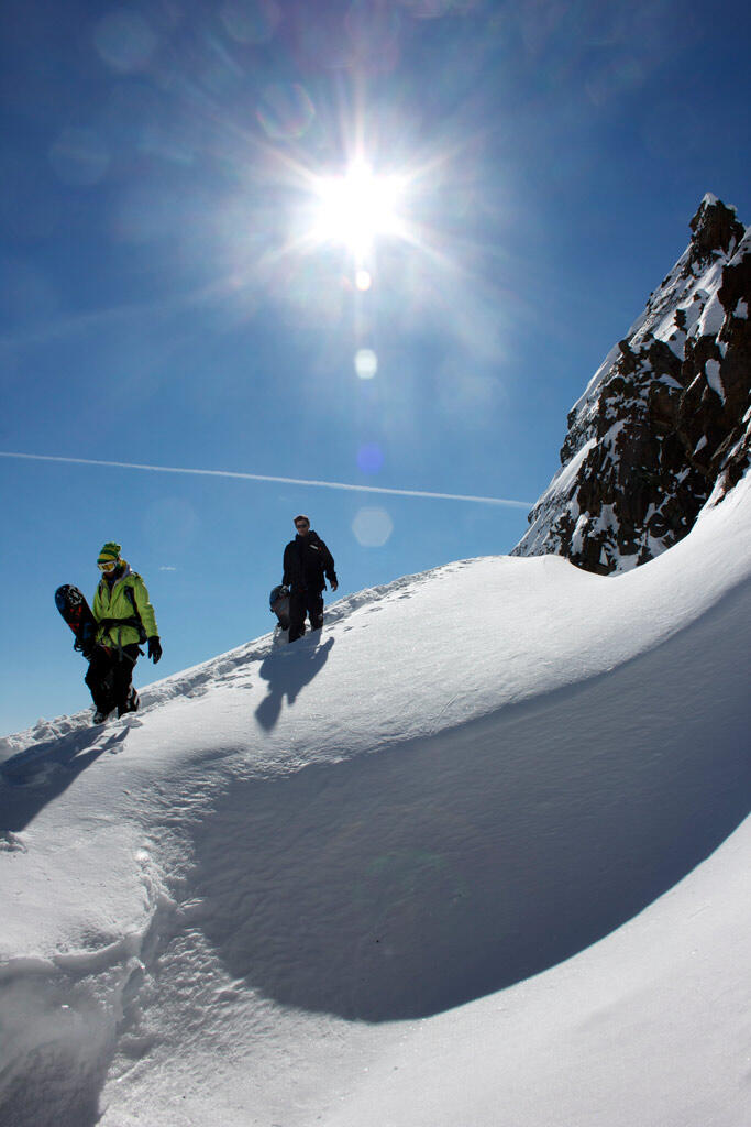Splitboard, boot-pack to abseil place