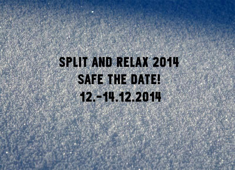 Safe the Date SPLIT & RELAX 2014