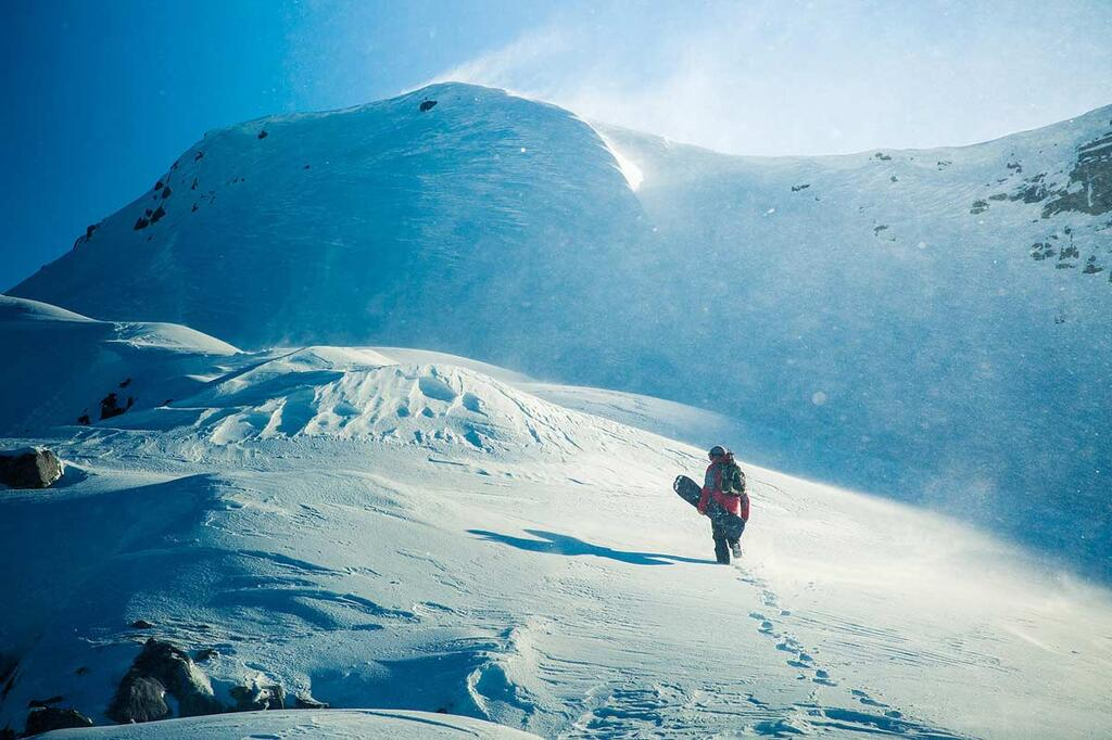 Splitboard Expeditions at the Arctic Circle, just before reaching a peak