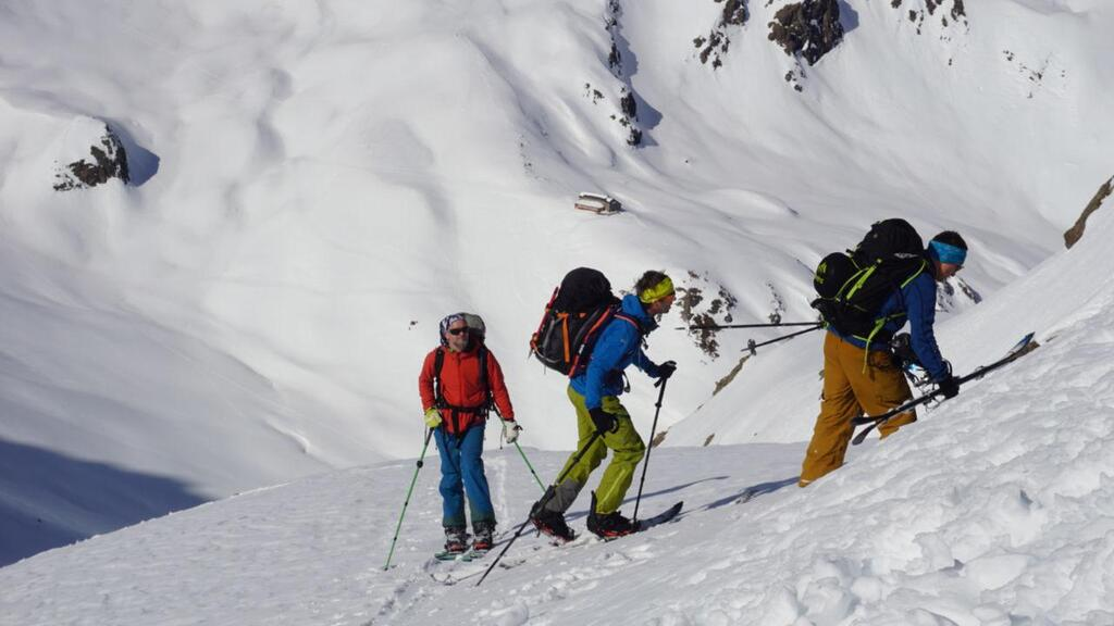 Splitboarding at Arlberg lots of small goals