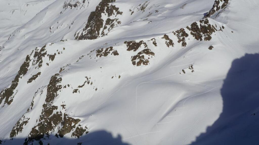 Splitboarding at Arlberg landscape