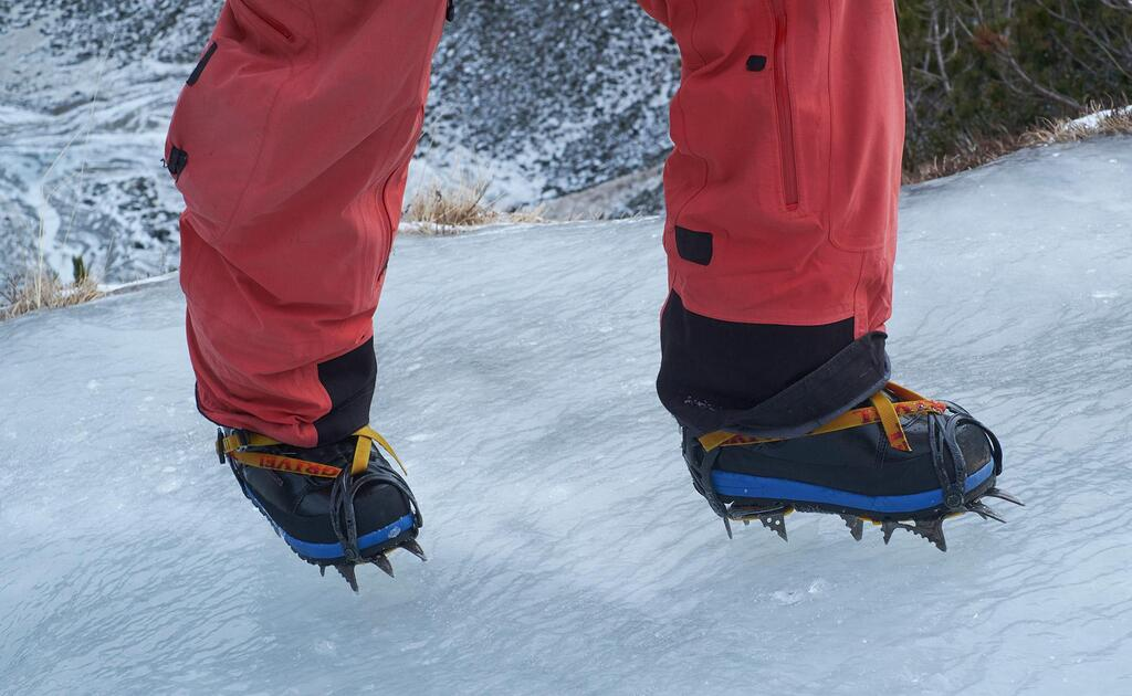 Classic crampons with straps fit pretty well..