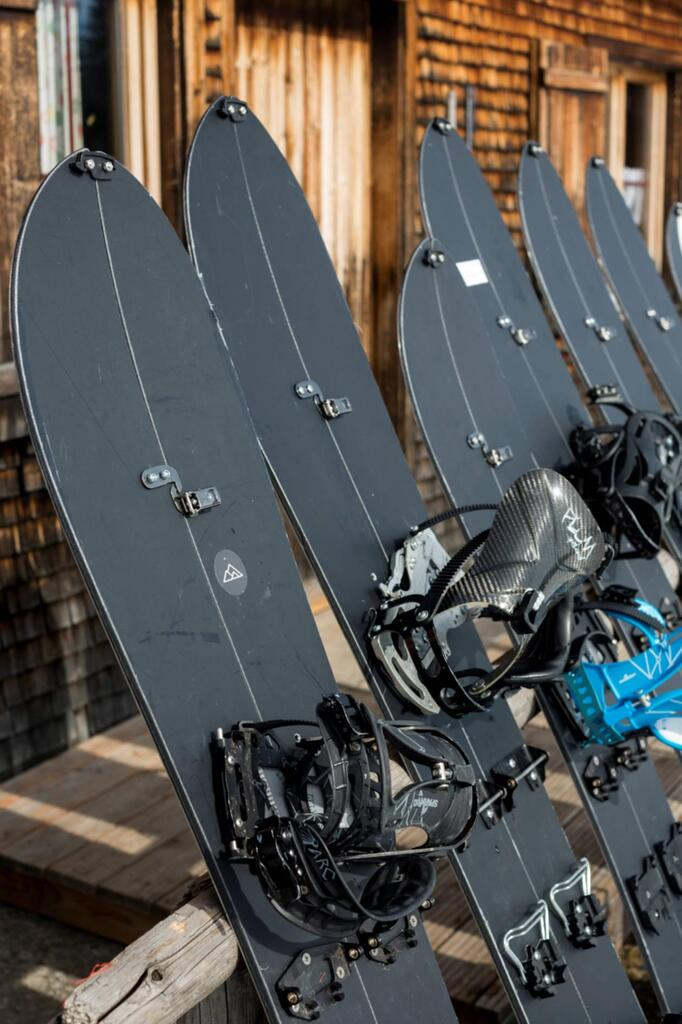 The splitboards are ready for testing