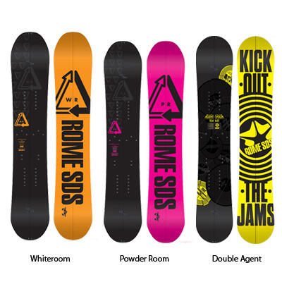 Rome Splitboards; Whiteroom, Powder Room, Double Agent