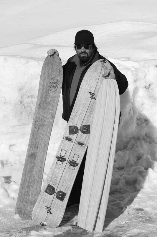 Sandy Presenting his Splitboards