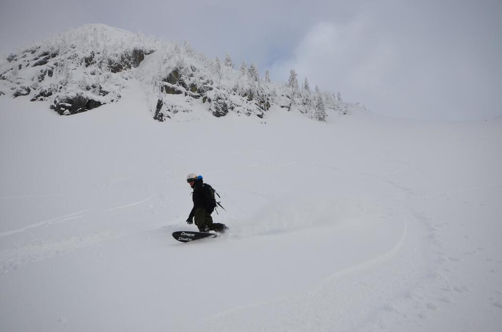First turns in BC Powder