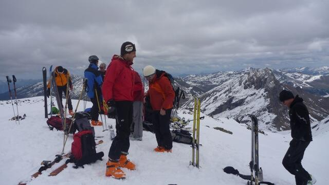 On top of the Geier, Splitboard / backcountry skiing / Snowboardtour