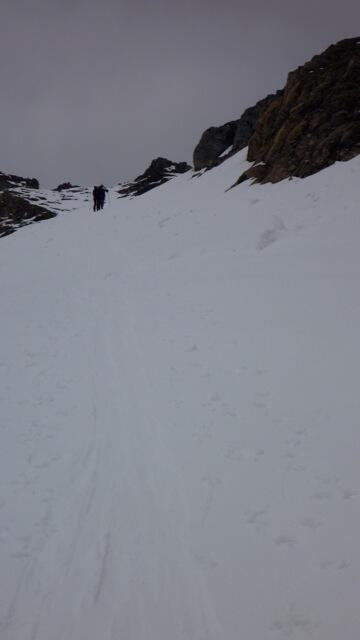 Geier almost at the top, Splitboard / backcountry skiing / Snowboardtour