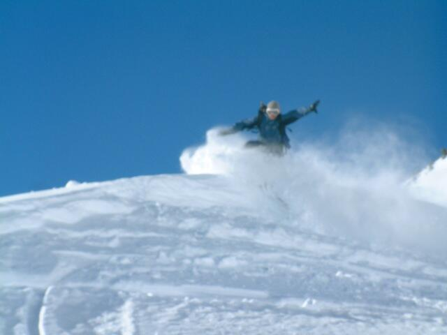 Hochalter enjoying the ride, Splitboard / backcountry skiing / Snowboardtour