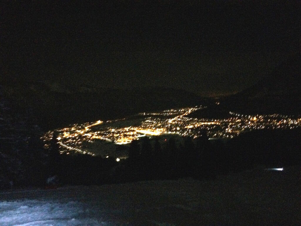Night view Garmisch