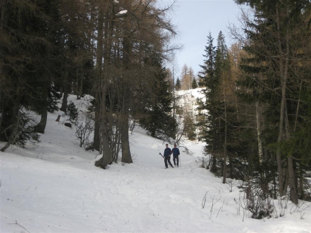 just above the piste#1
