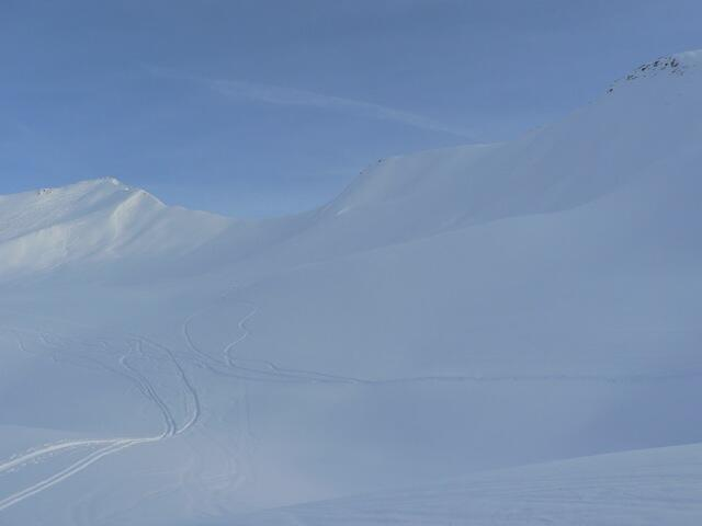 Fischers Napf, View to South-East ridge, Splitboard / backcountry route / Snowboardtour
