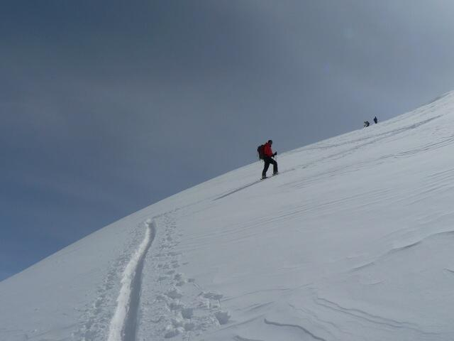 Piz Minor way to the summit, Splitboard / backcountry route