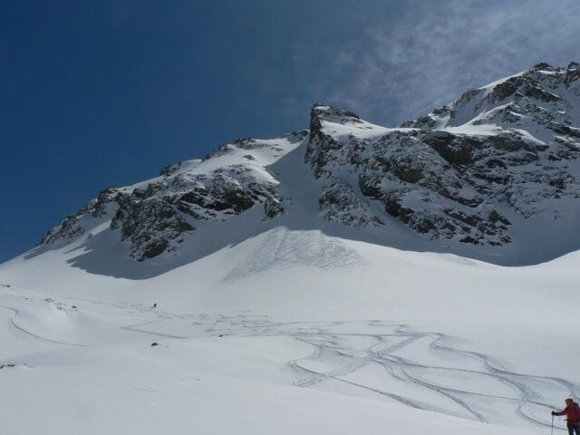 Backcountry at Piz Minor, Splitboard / backcountry route