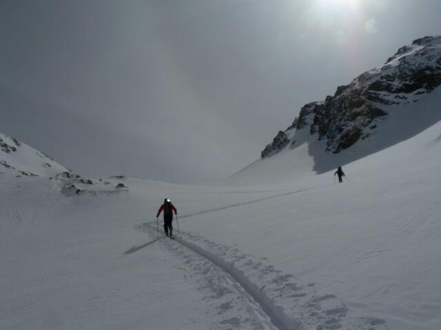 Piz Minor just before the saddle, Splitboard / backcountry route