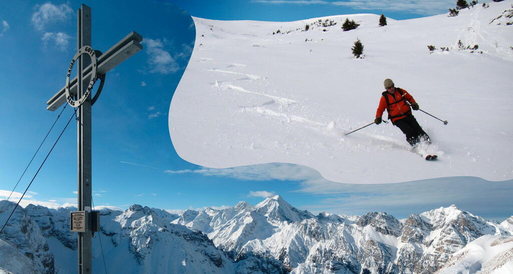 Rötenspitze Splitboard, backcountry route, Snowboardtour