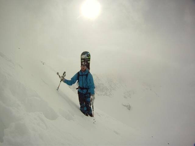 Secret one, at the ridge, Splitboard / Skitouren