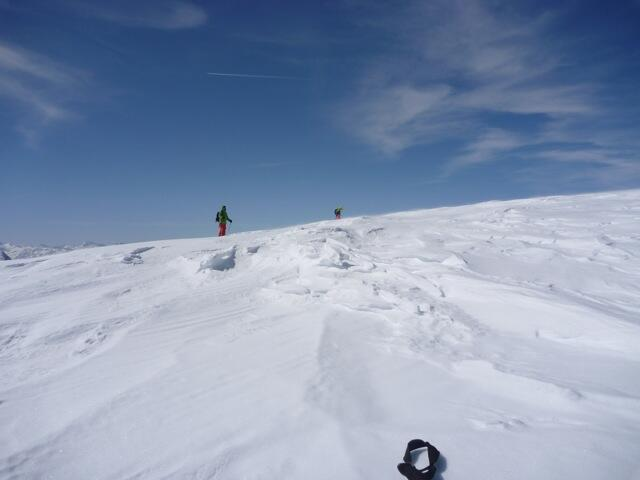 flat to the summit of Weissseespitze, Splitboard, Skitour, Snowboardtour