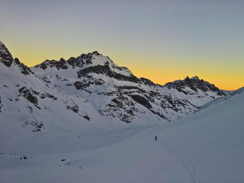 Sunrise in the Klostertal Valley