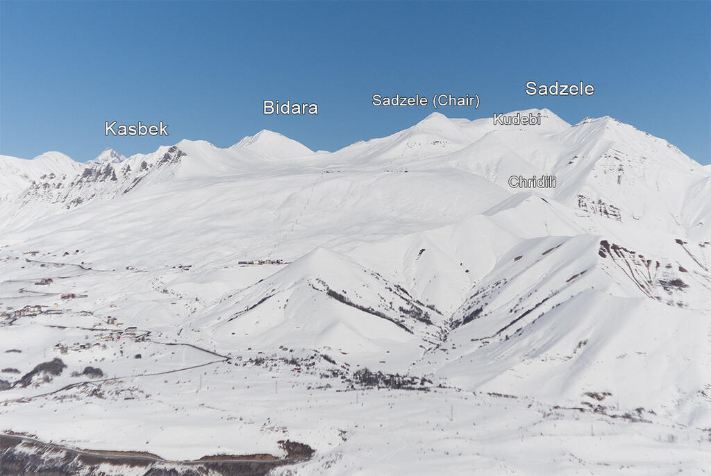 Gudauri panorama as seen from north.