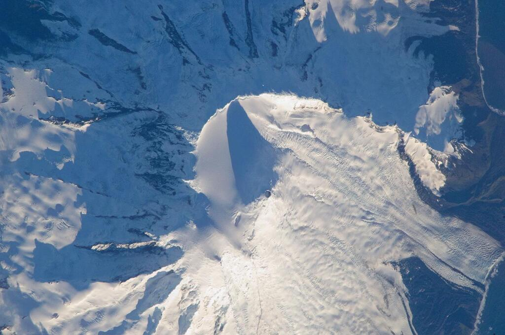 Heard Island- Vulcanic Massif Big Ben with Mawson Peak (2745m) - Image courtesy of NASA: ISS018-E-38197