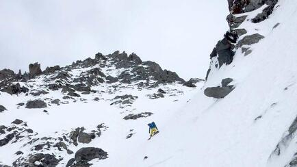 Inside the Y-Couloir