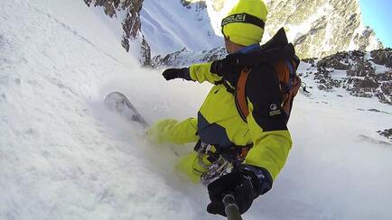 View in the Domenech Couloire ridden with a Splitboard