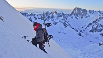 Ascent  Grande Rocheuse Chamonix