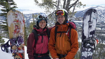 Will and Becca on the mountain