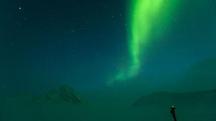 Splitboard Expeditions at the Arctic Circle, Nothern Lights