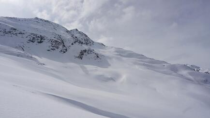 Perfect splitboarding terrain